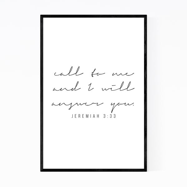 Noir Gallery Jeremiah 3:33 Bible Typography Framed Art Print