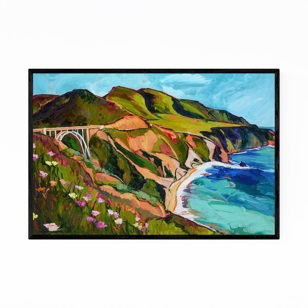 Noir Gallery Big Sur California Beach Painting Framed Art Print