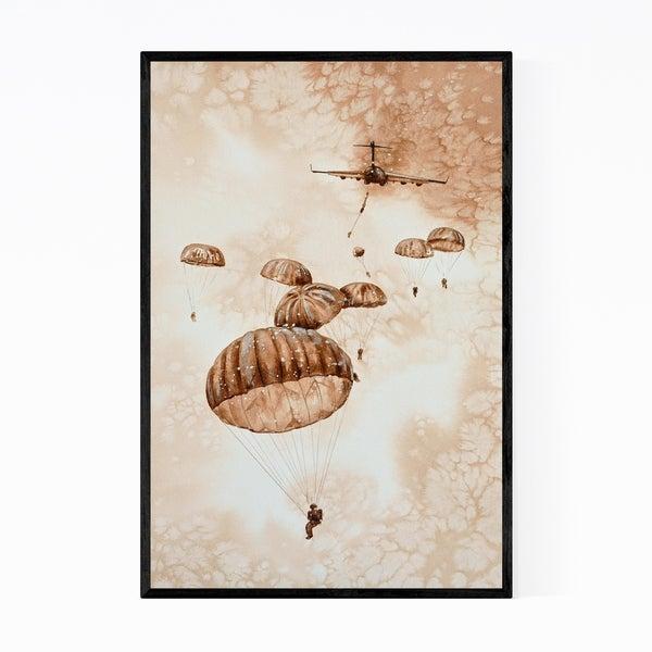 Noir Gallery Aircraft Painting Framed Art Print