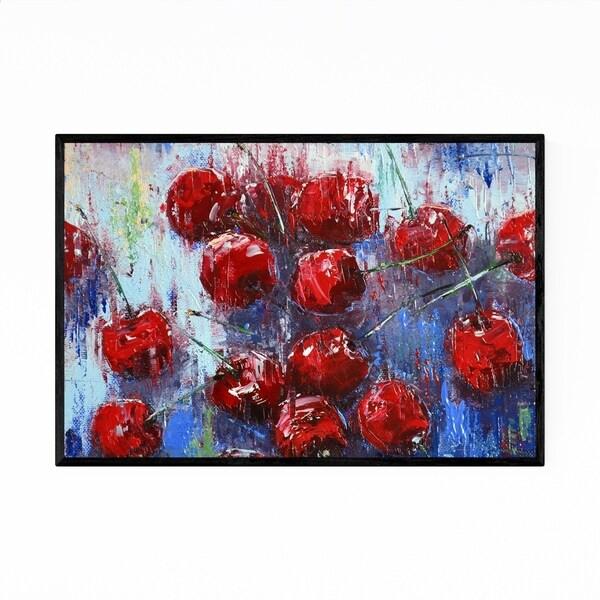 Noir Gallery Cherry Still Life Fruit Painting Framed Art Print