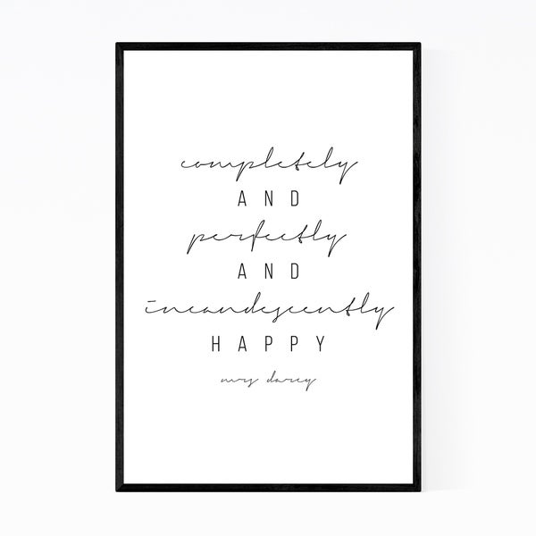Noir Gallery Pride and Prejudice Quote Typography Framed Art Print