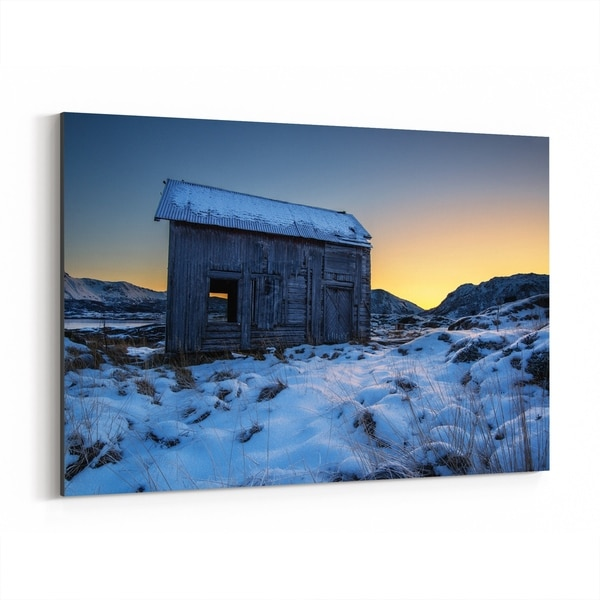 Noir Gallery Norway Winter Nature Photo Canvas Wall Art Print
