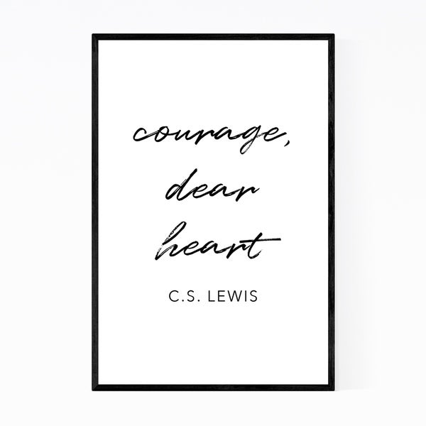 Noir Gallery C.S. Lewis Quote Typography Framed Art Print