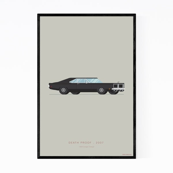 Noir Gallery Death Proof Dodge Illustration Framed Art Print