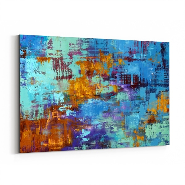 Noir Gallery Abstract Expressionism Painting Canvas Wall Art Print