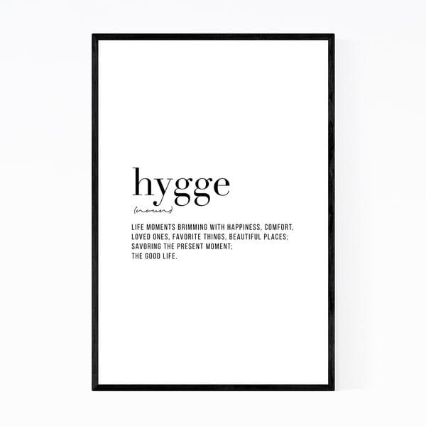 Noir Gallery Hygge Definition Typography Framed Art Print