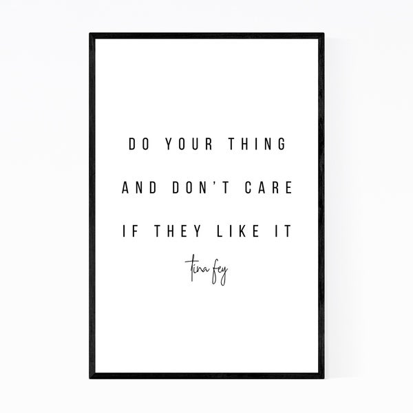 Noir Gallery Tina Fey Quote Typography Framed Art Print