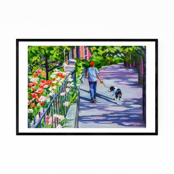 Noir Gallery Brooklyn New York Animals Dog Framed Art Print
