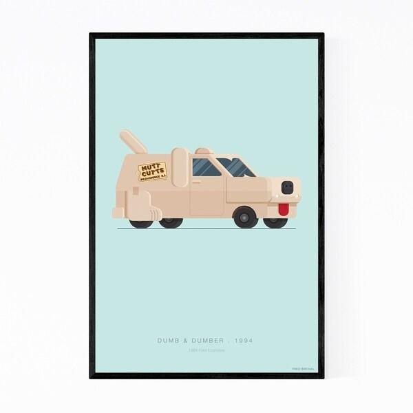 Noir Gallery Dumb & Dumber Illustration Framed Art Print