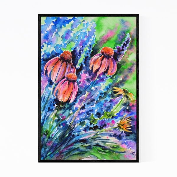 Noir Gallery Floral Botanical Painting Framed Art Print