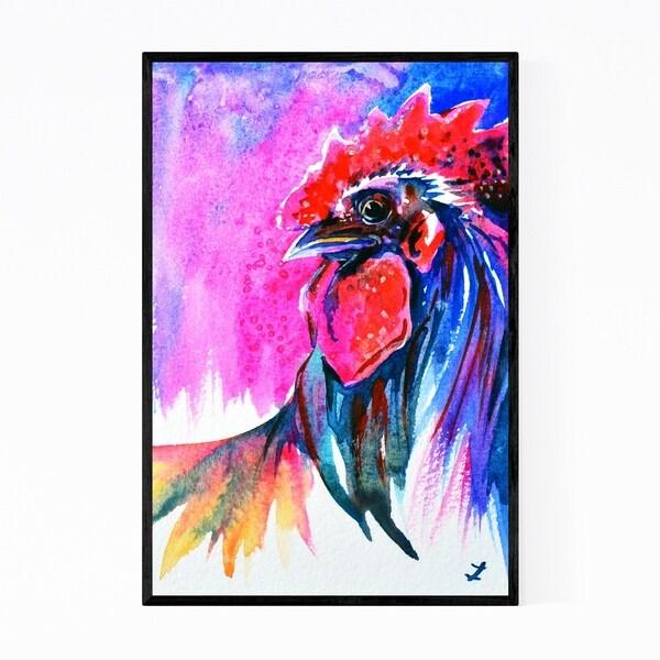 Noir Gallery Animal Chicken Painting Framed Art Print