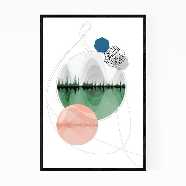 Noir Gallery Abstract Nature Geometric Framed Art Print