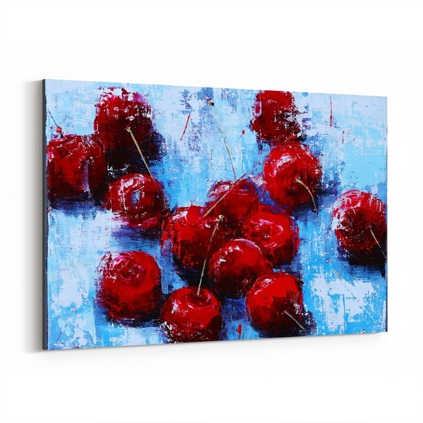 Noir Gallery Cherry Still Life Fruit Painting Canvas Wall Art Print