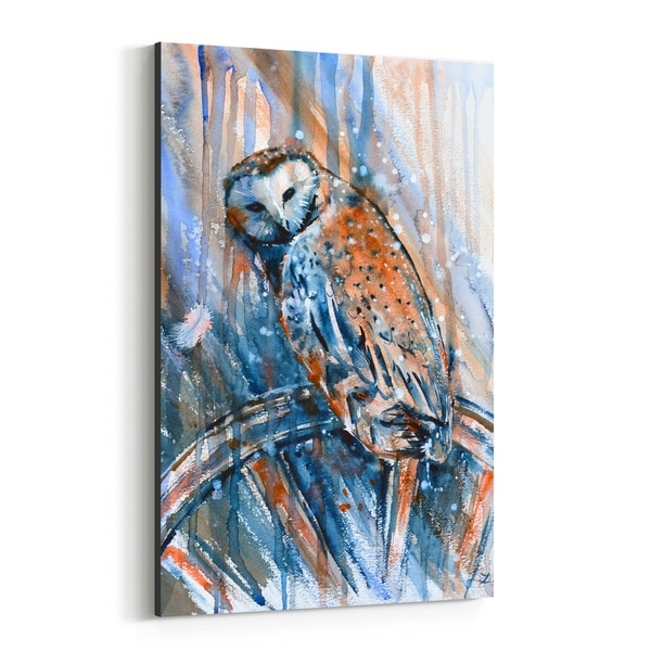 Noir Gallery Alcohol Animal Birds Owl Painting Canvas Wall Art Print