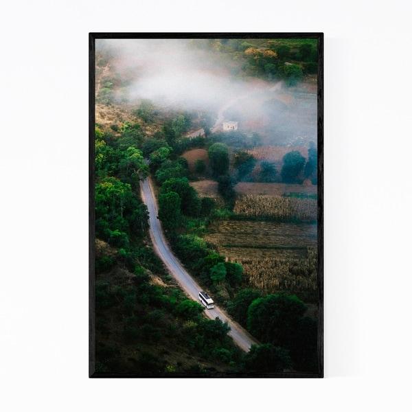 Noir Gallery Udaipur India Mountains Fog Photo Framed Art Print