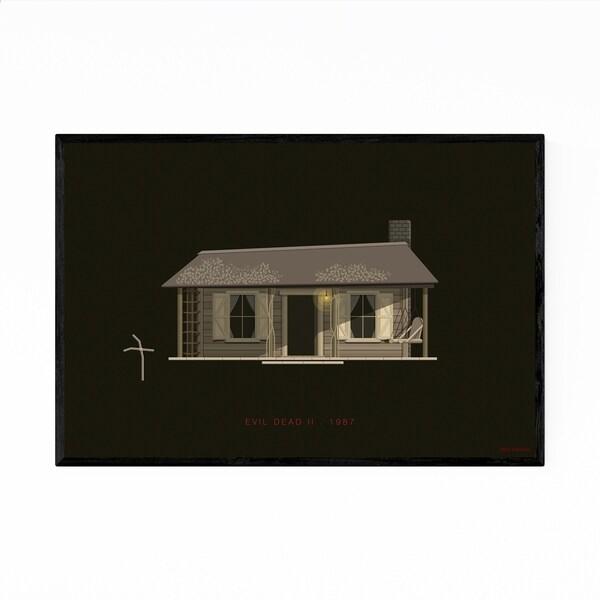 Noir Gallery Evil Dead II Movie TV Illustration Framed Art Print