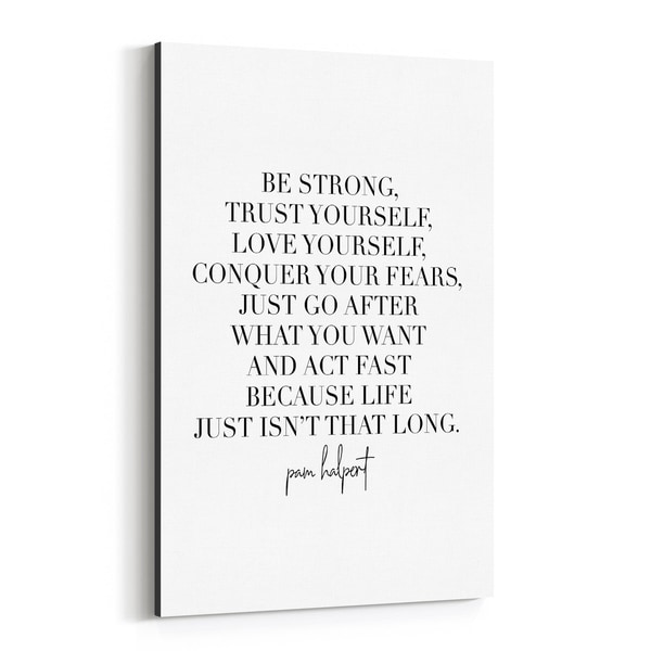Noir Gallery The Office TV Quote Typography Canvas Wall Art Print
