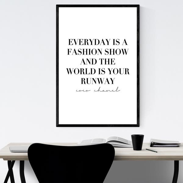 Shop Noir Gallery Coco Chanel Quote Typography Framed Art Print Overstock 29633257
