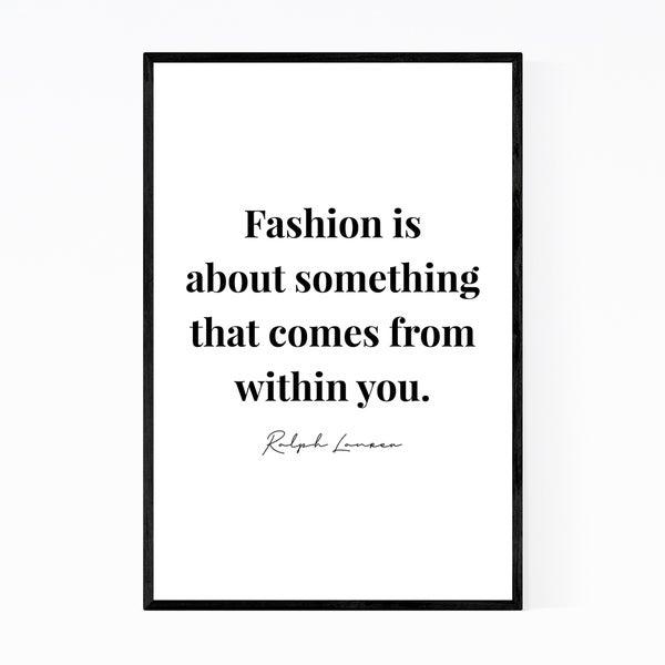 Noir Gallery Ralph Lauren Quote Typography Framed Art Print