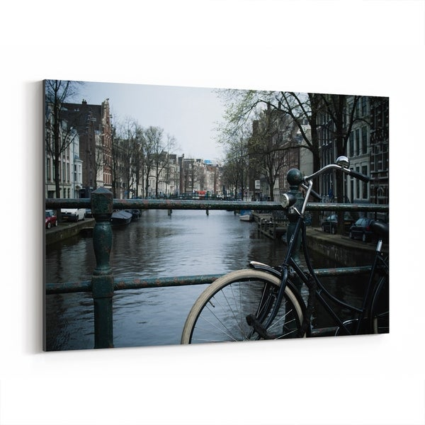 Noir Gallery Amsterdam Netherlands Bike Photo Canvas Wall Art Print