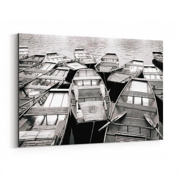Noir Gallery Tam Coc Vietnam Boats Photo Canvas Wall Art Print
