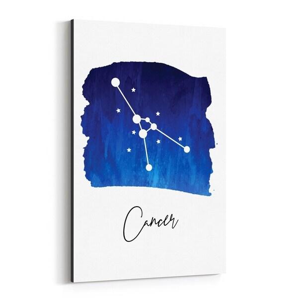 Noir Gallery Cancer Zodiac Constellation Canvas Wall Art Print