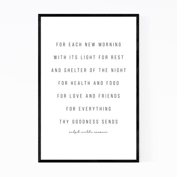 Noir Gallery Ralph Waldo Emerson Quote Typography Framed Art Print