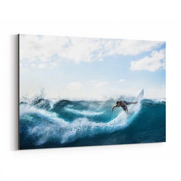 Noir Gallery Venice Beach California Surfing Canvas Wall Art Print