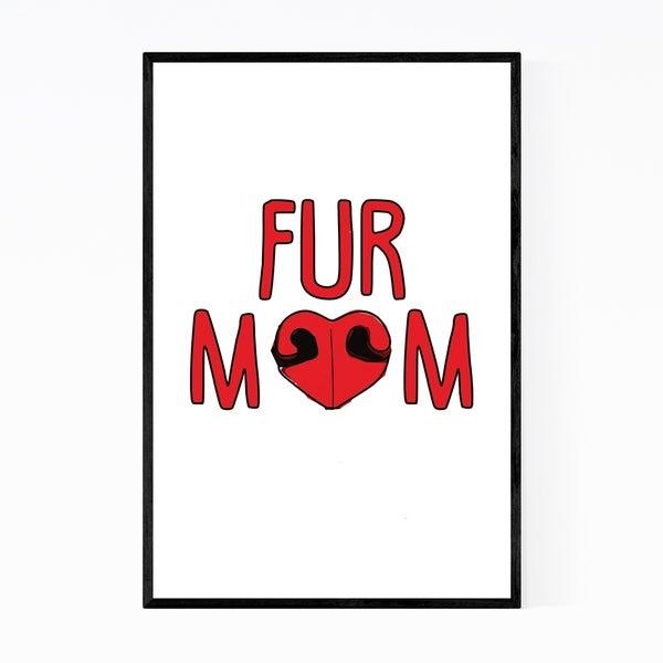 Noir Gallery Dog Humor Illustration Framed Art Print