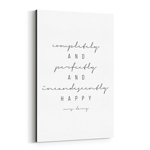 Noir Gallery Pride and Prejudice Quote Typography Canvas Wall Art Print