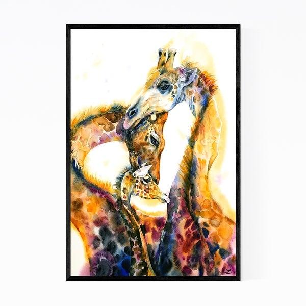 Noir Gallery Animal Family Giraffe Insects Moth Framed Art Print