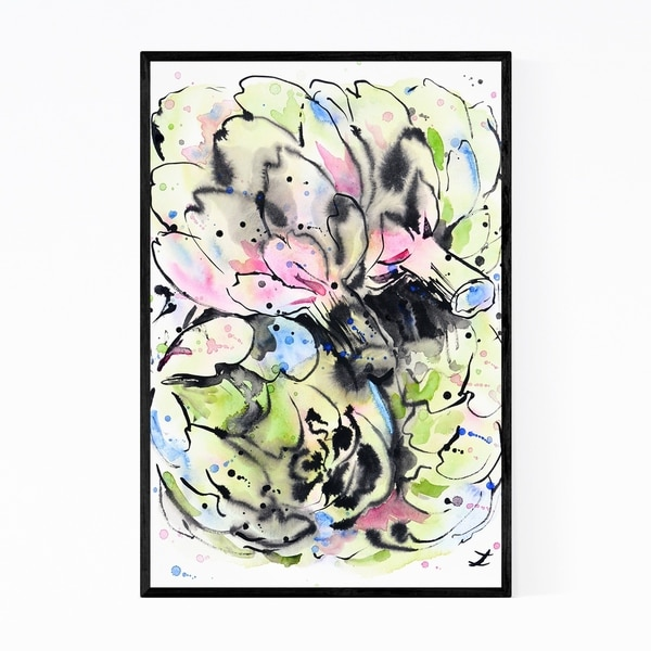 Noir Gallery Artichoke Kitchen Globe Painting Framed Art Print