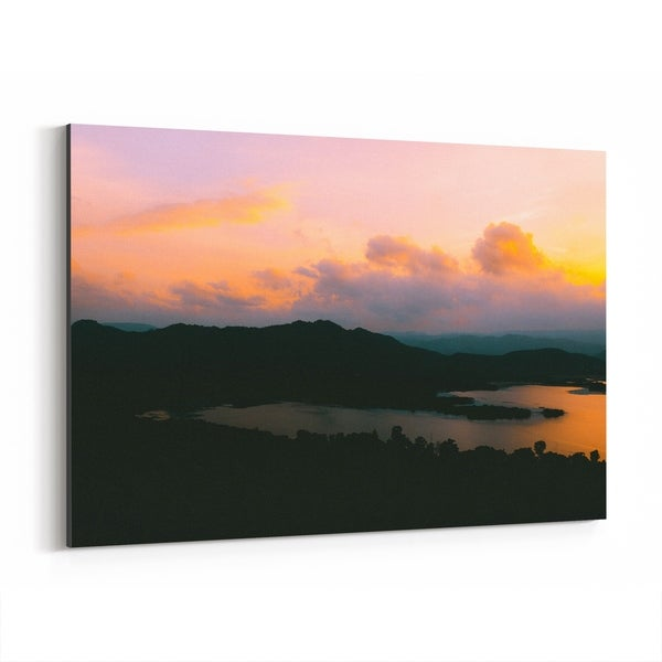 Noir Gallery Udaipur India Mountains Photo Canvas Wall Art Print