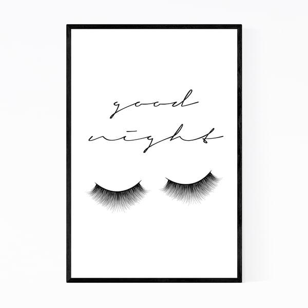 Noir Gallery Feminine Minimal Typography Framed Art Print
