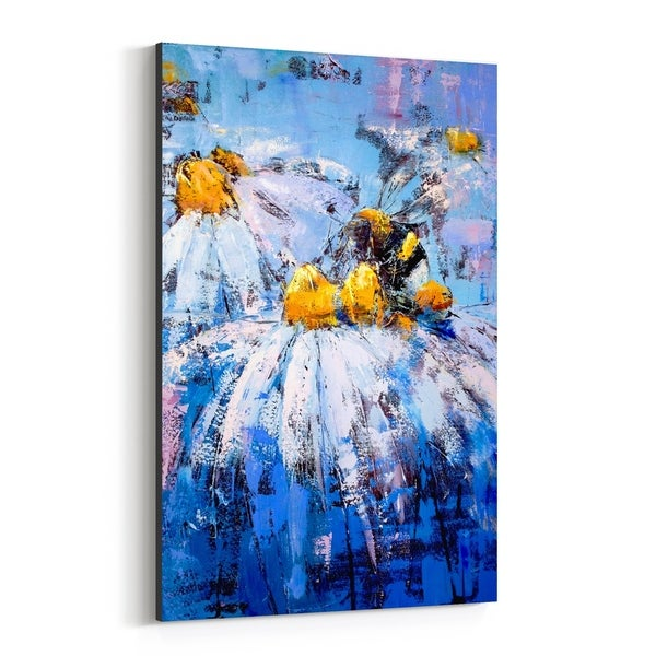 Noir Gallery Floral Botanical Daisy Painting Canvas Wall Art Print