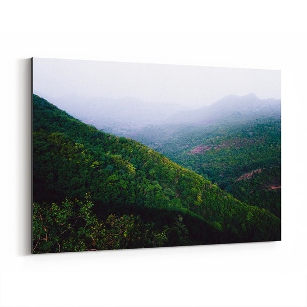 Noir Gallery Udaipur India Mountains Fog Photo Canvas Wall Art Print