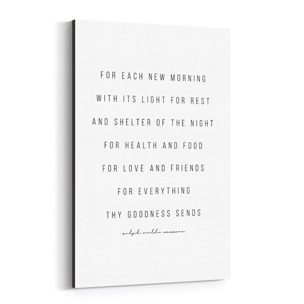 Noir Gallery Ralph Waldo Emerson Quote Typography Canvas Wall Art Print