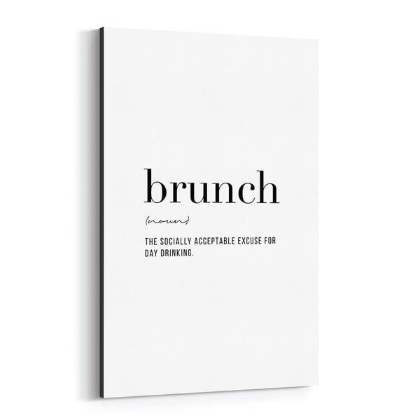 Noir Gallery Brunch Definition Typography Canvas Wall Art Print