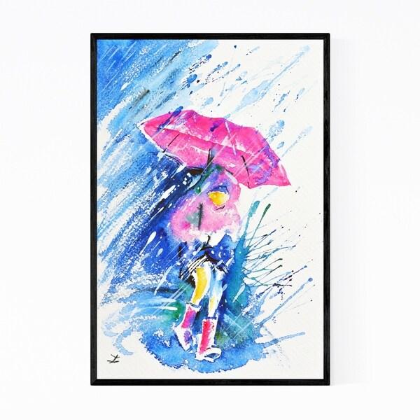 Noir Gallery Figurative Umbrella Painting Framed Art Print