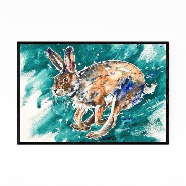Noir Gallery Animal Hare Painting Framed Art Print