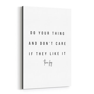 Noir Gallery Tina Fey Quote Typography Canvas Wall Art Print