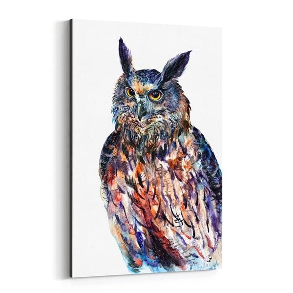 Noir Gallery Animal Birds Eagle Owl Painting Canvas Wall Art Print