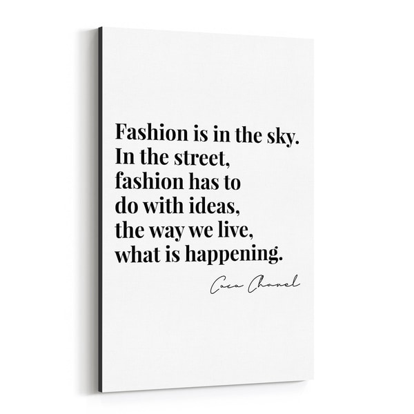 Noir Gallery Coco Chanel Quote Typography Canvas Wall Art Print