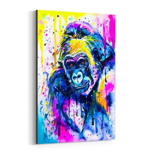 Noir Gallery Animal Gorilla Painting Canvas Wall Art Print