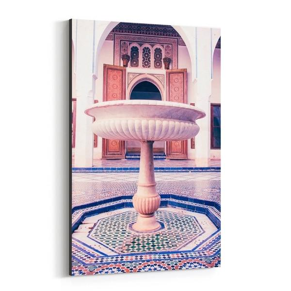 Noir Gallery Marrakesh Morocco Fountain Photo Canvas Wall Art Print