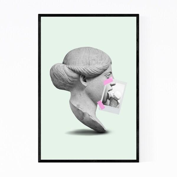 Noir Gallery Kitchen Humor Ice Cream Illustration Framed Art Print