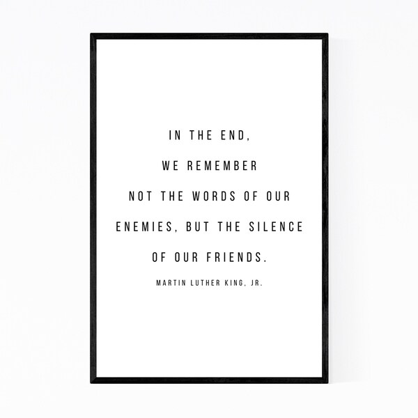 Noir Gallery Martin Luther King Quote Typography Framed Art Print