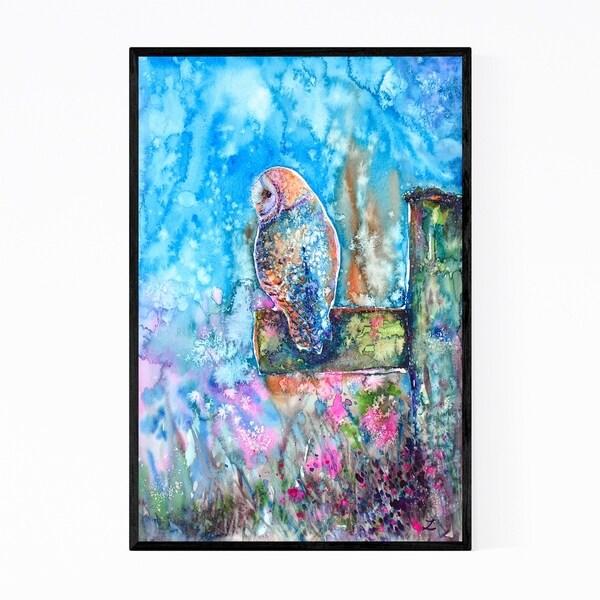 Noir Gallery Owl Animal Rural Painting Framed Art Print