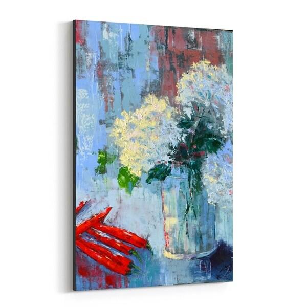 Noir Gallery Floral Botanical Still Life Hydrangea Canvas Wall Art Print