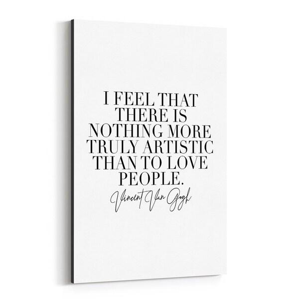 Noir Gallery Van Gogh Quote Typography Canvas Wall Art Print